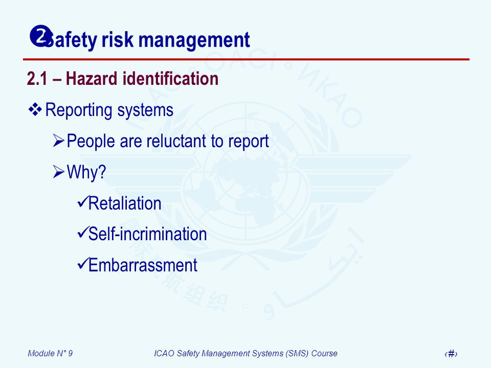 Safety risk management