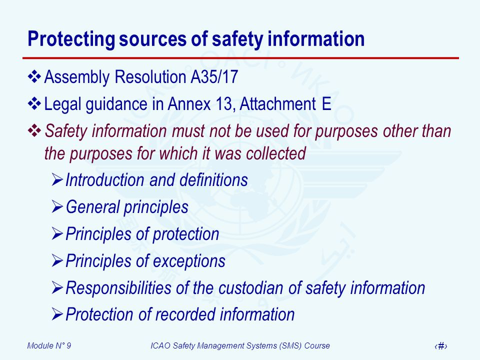 Protecting sources of safety information