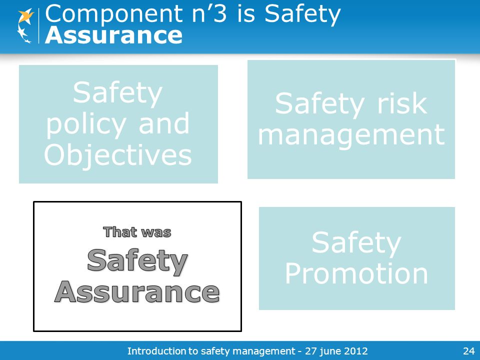 Component n'3 is Safety Assurance