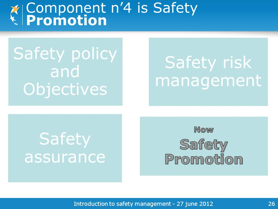Component n'4 is Safety Promotion