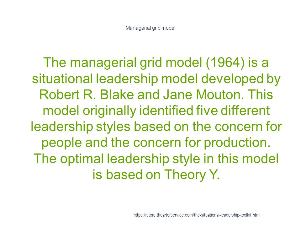 the managerial grid model