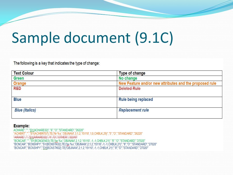 Sample document (9.1C)