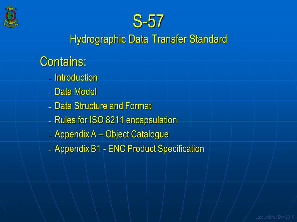 S-57 Hydrographic Data Transfer Standard