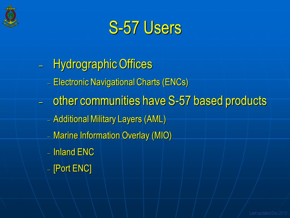 S-57 Users Hydrographic Offices