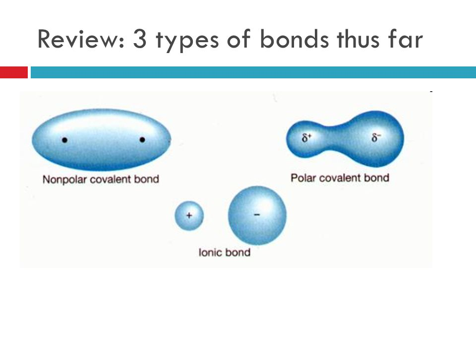 Review: 3 types of bonds thus far