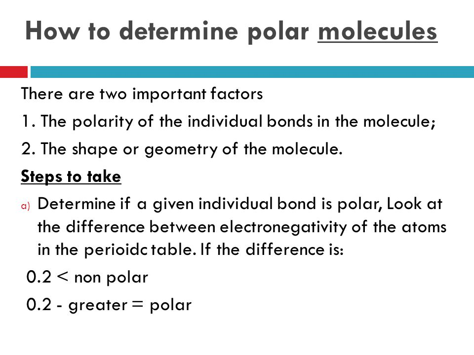 How to determine polar molecules