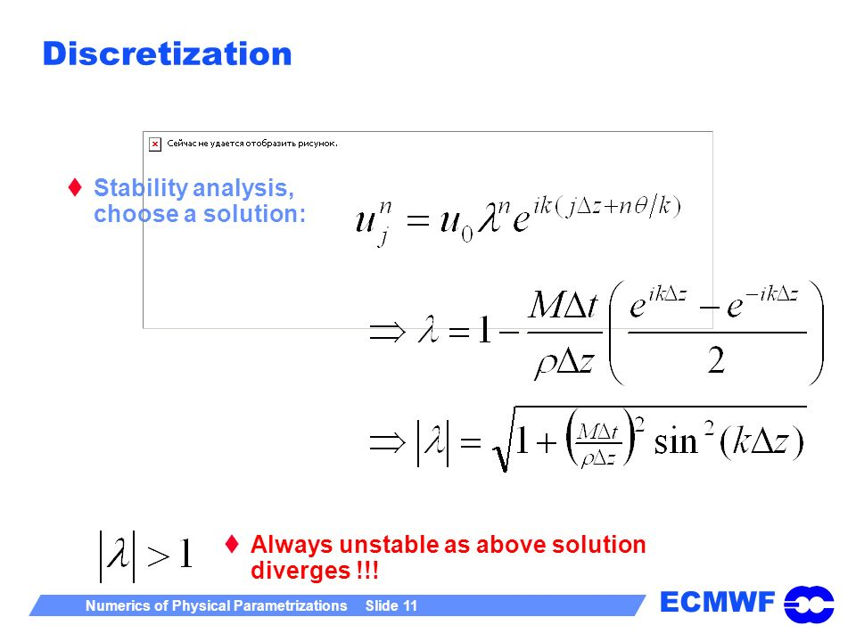 Discretization Stability analysis, choose a solution: