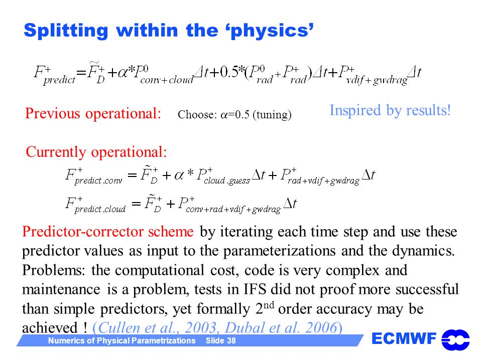 Splitting within the 'physics'