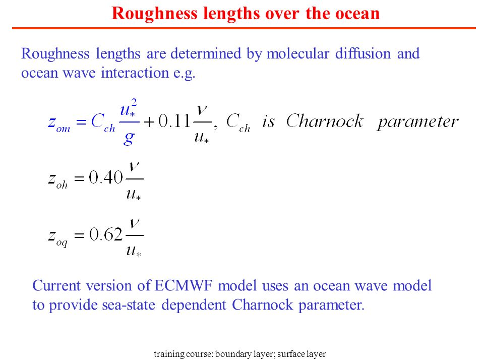 Roughness lengths over the ocean