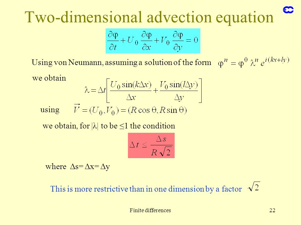 Two-dimensional advection equation