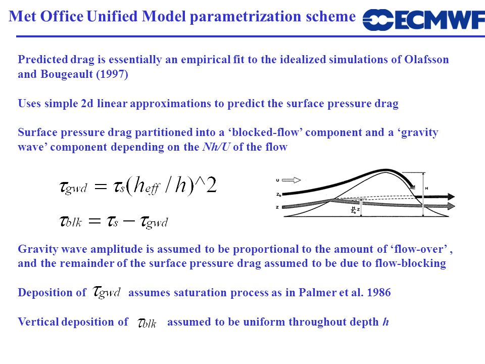 Met Office Unified Model parametrization scheme