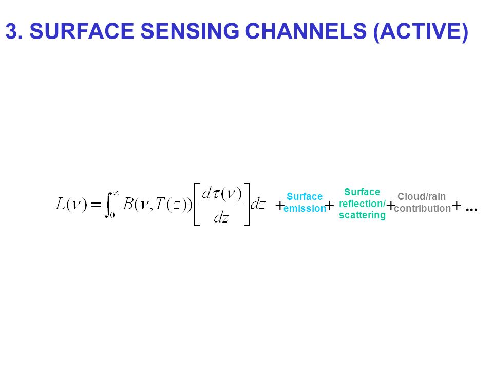 3. SURFACE SENSING CHANNELS (ACTIVE)