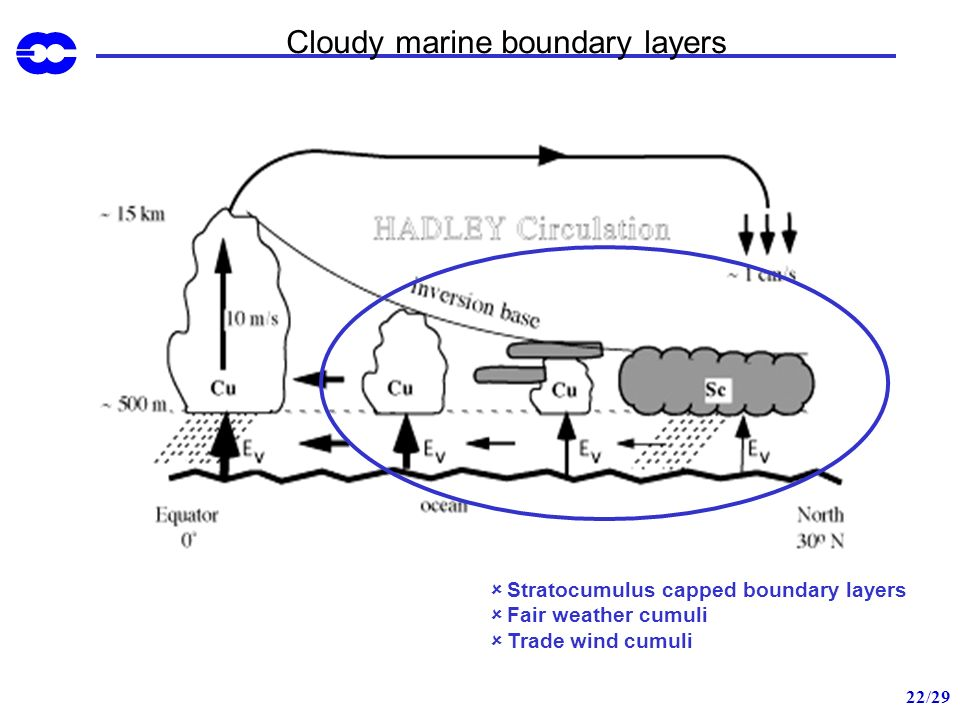 Cloudy marine boundary layers