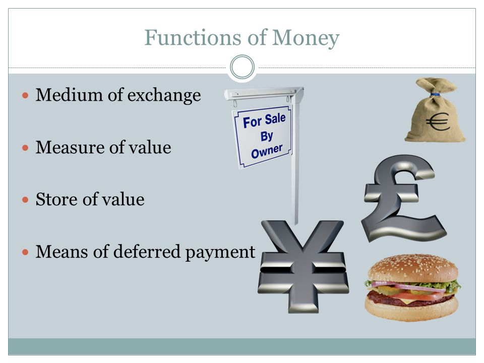 measure of value function of money