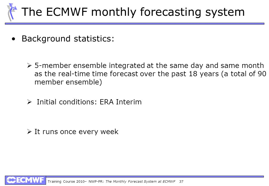 The ECMWF monthly forecasting system
