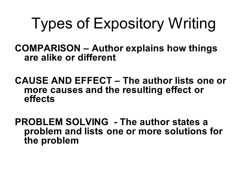 types essays expository Expository, persuasive, descriptive, and narrative papers are the 4 major types of essays learn more about their purposes, structure, and format.