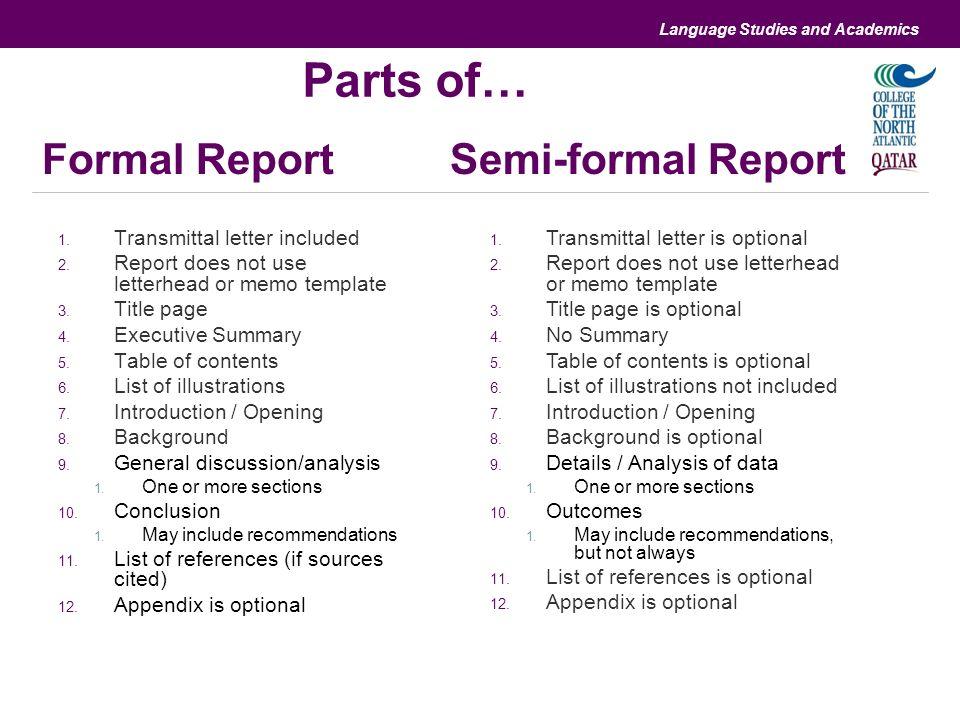 Semi Formal Vs Formal Letter