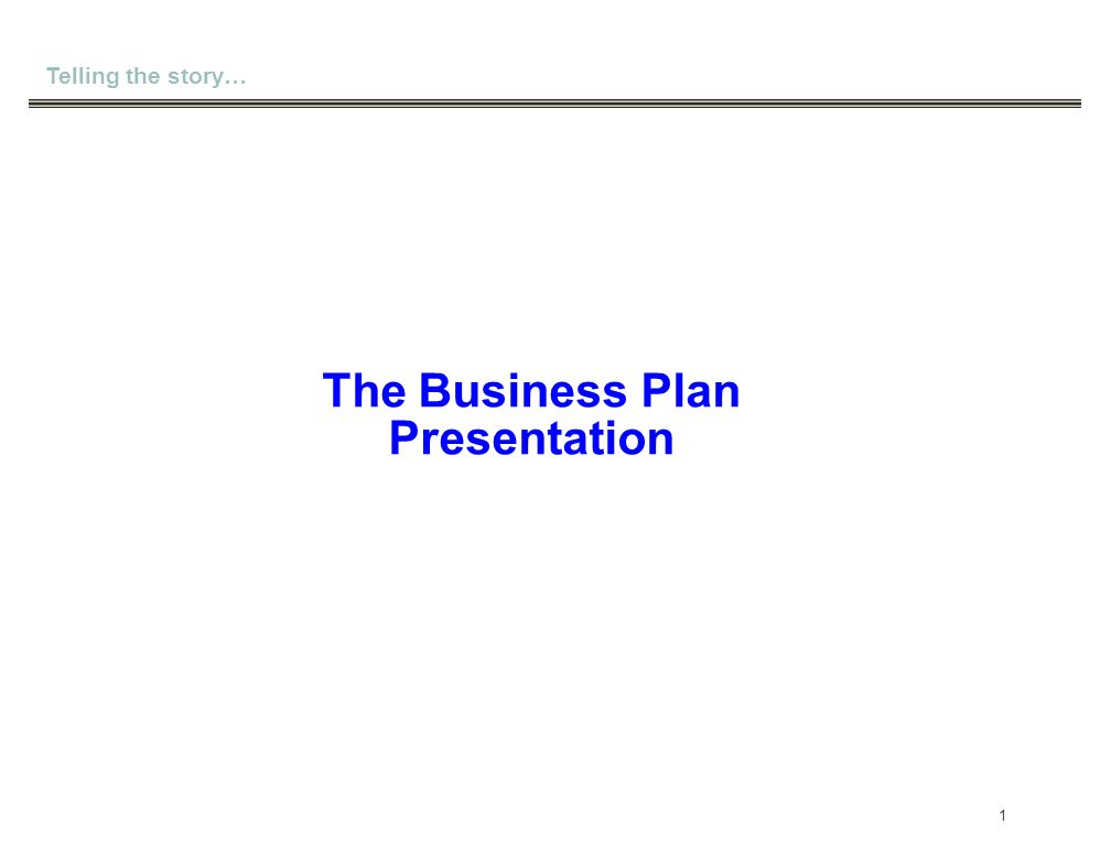 the business plan presentation ppt download