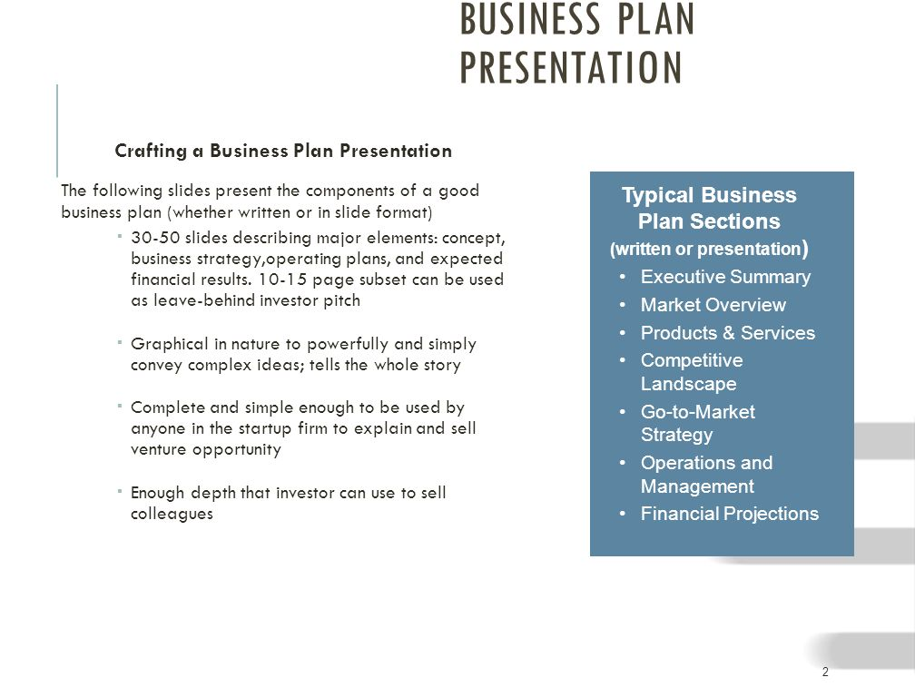 how can a well written business plan provide a competitive edge