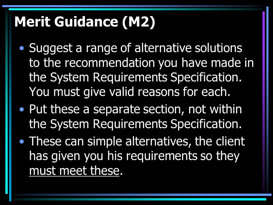 Merit Guidance (M2)