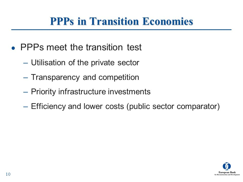 PPPs in Transition Economies