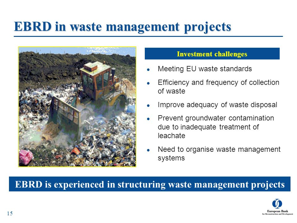 EBRD in waste management projects