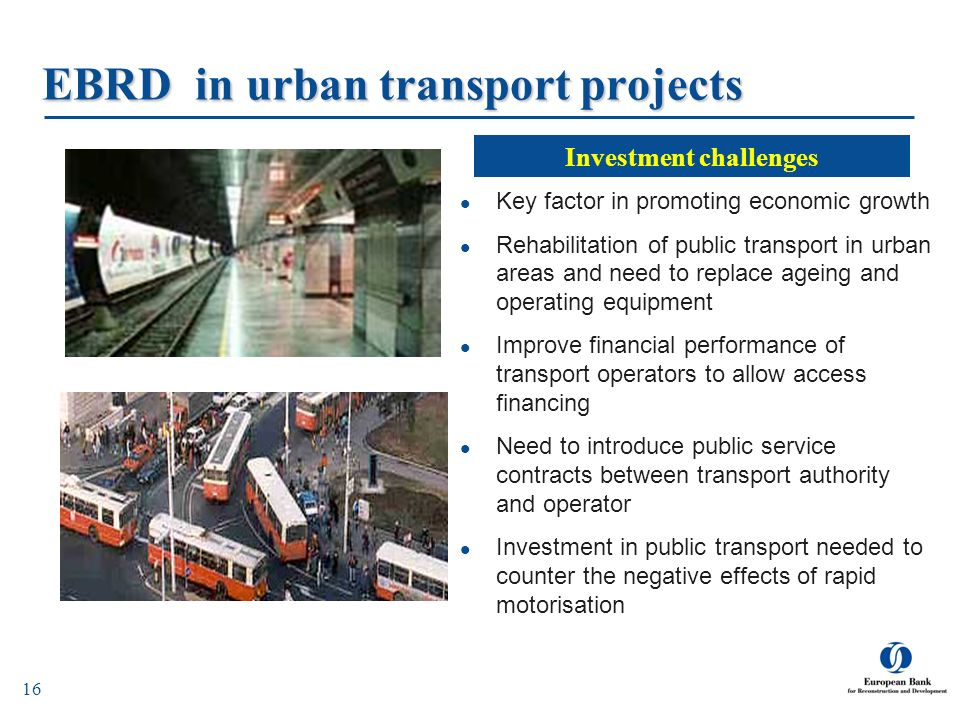EBRD in urban transport projects
