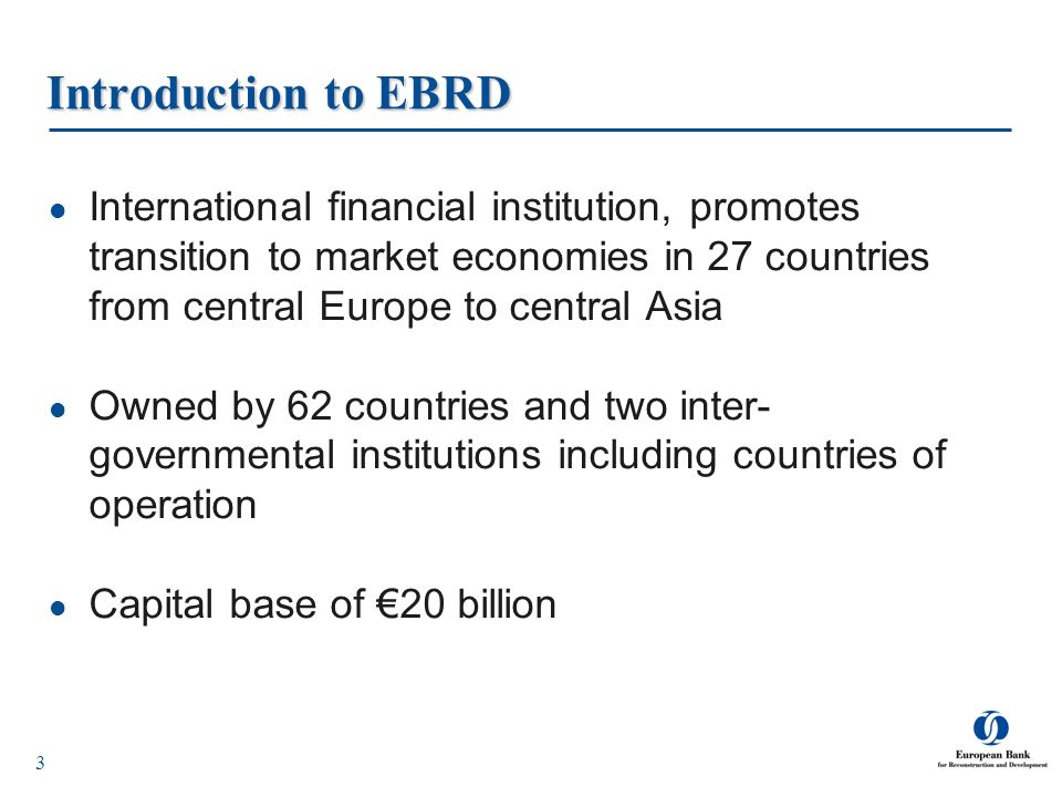 Introduction to EBRD