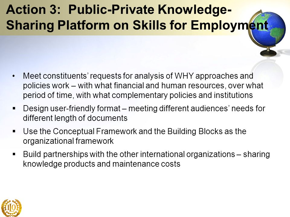 Action 3: Public-Private Knowledge-Sharing Platform on Skills for Employment