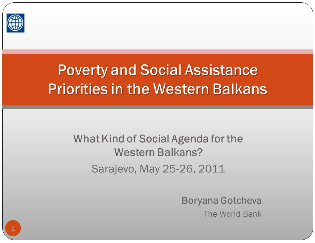 Poverty and Social Assistance Priorities in the Western Balkans