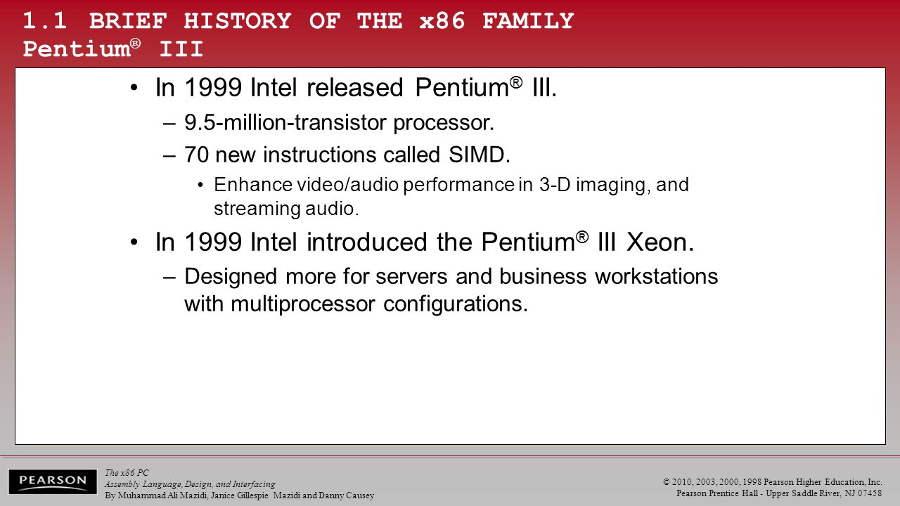 Dec Hex Bin Org One The X86 Microprocessor Ppt Video Online Pentium 3 Block Diagram Pdf 11 Brief History Of Family Iii