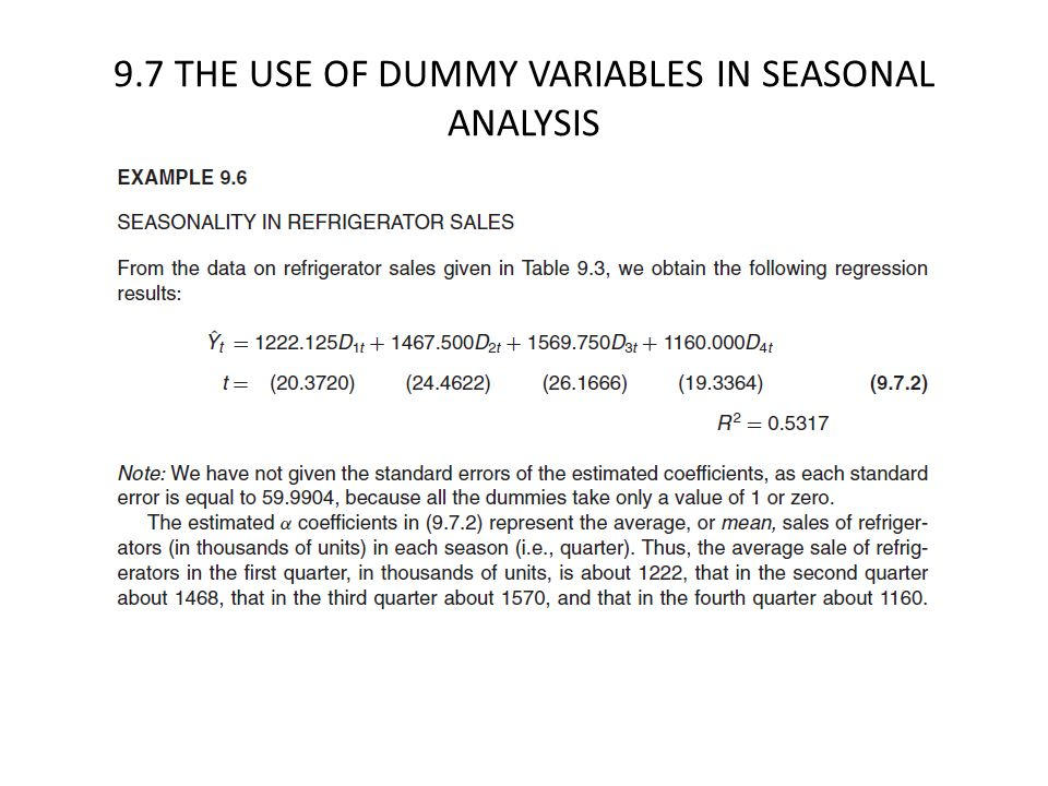 CHAPTER 9 DUMMY VARIABLE REGRESSION MODELS - ppt video online download