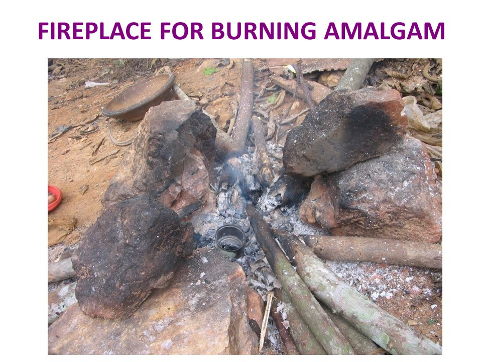 FIREPLACE FOR BURNING AMALGAM