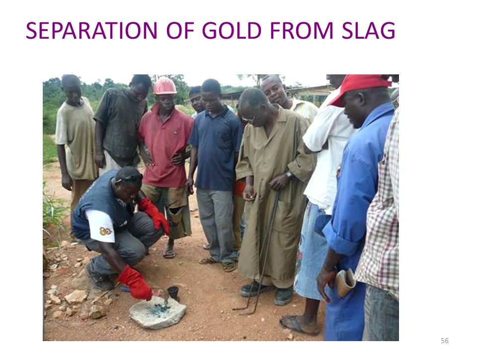 SEPARATION OF GOLD FROM SLAG