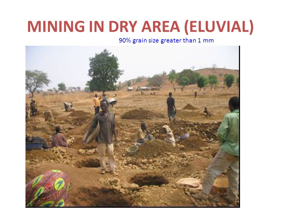 MINING IN DRY AREA (ELUVIAL)