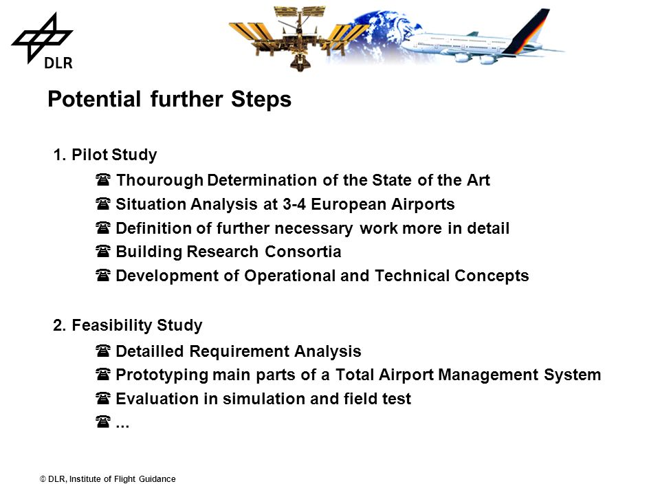 Potential further Steps