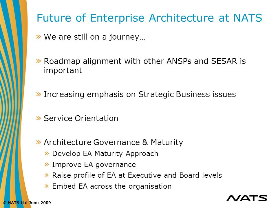 Future of Enterprise Architecture at NATS