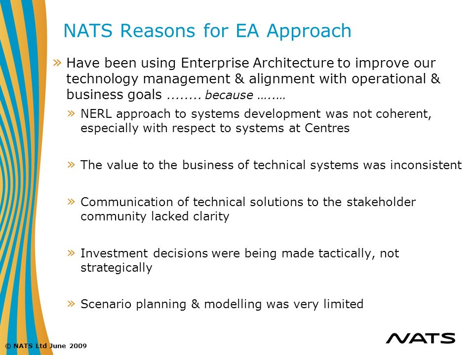 NATS Reasons for EA Approach