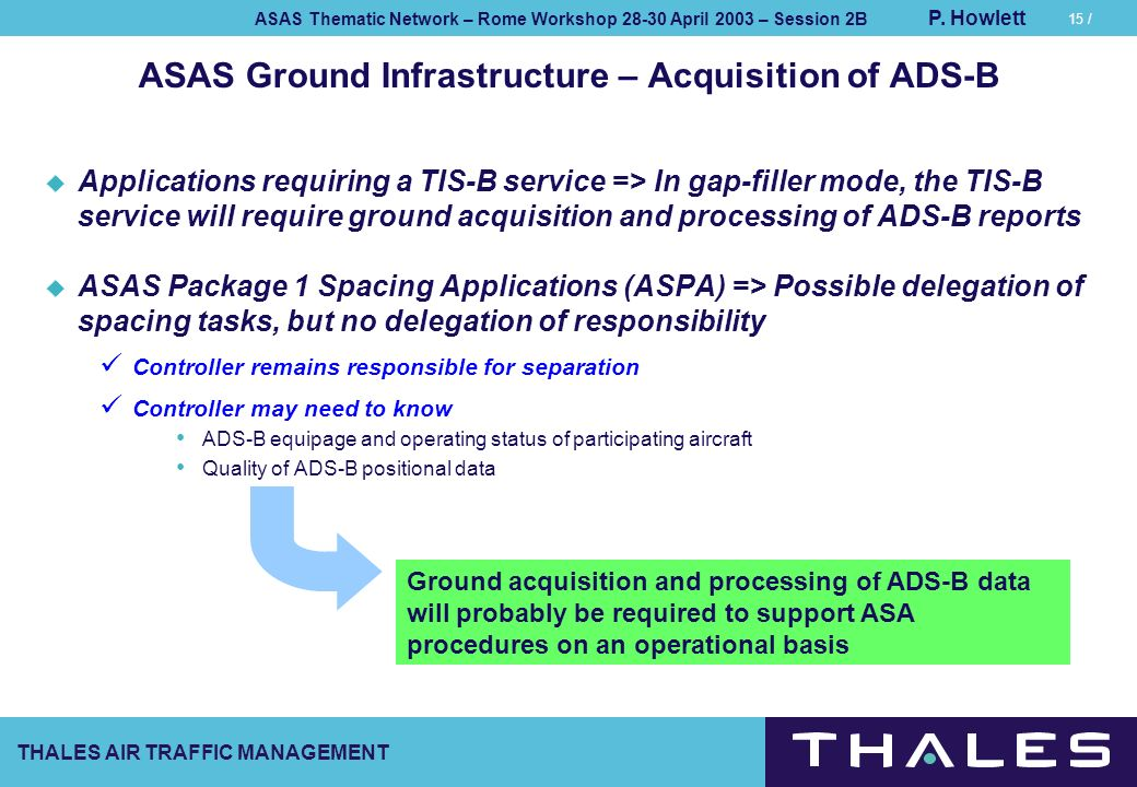ASAS Ground Infrastructure – Acquisition of ADS-B
