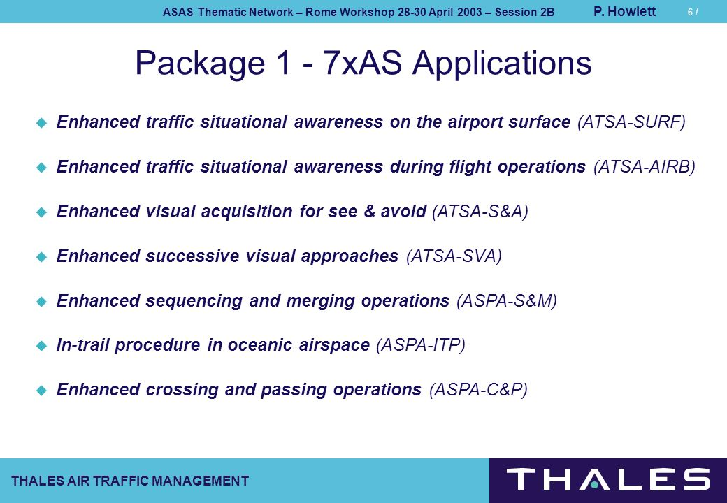 Package 1 - 7xAS Applications