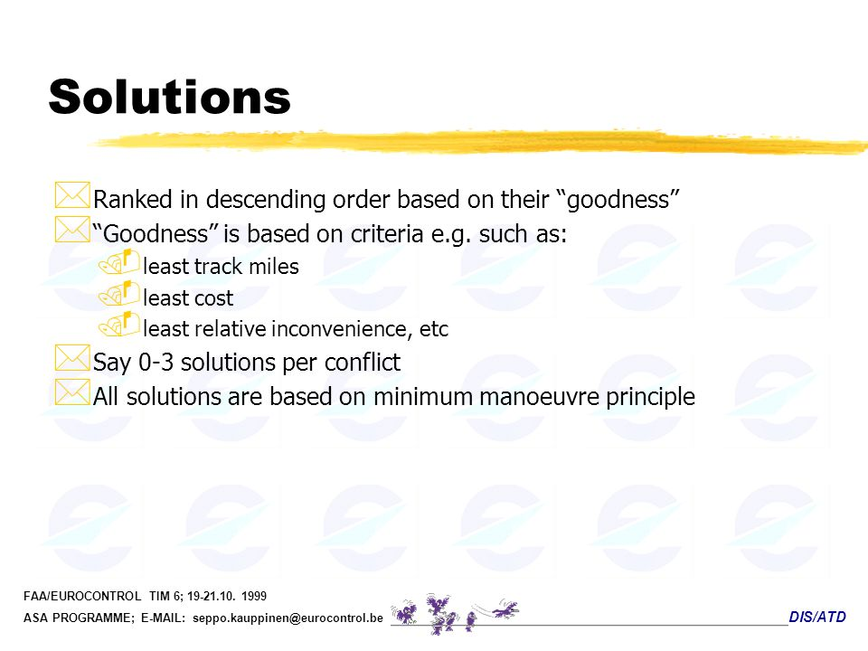 Solutions Ranked in descending order based on their goodness