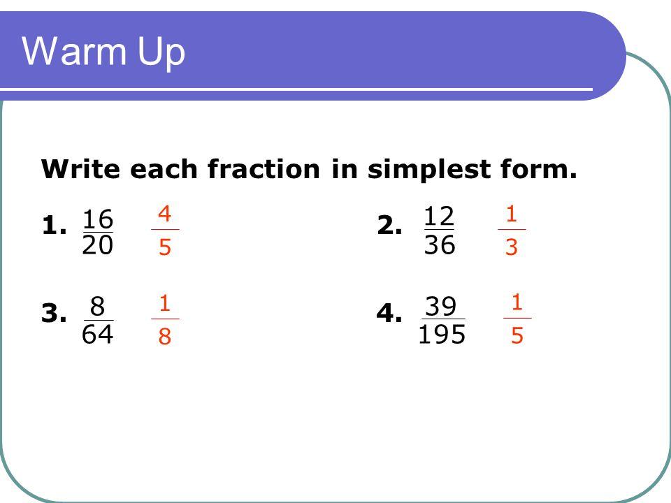 simplest form 12/36  Probability 1111.11 Pre-Algebra. - ppt download
