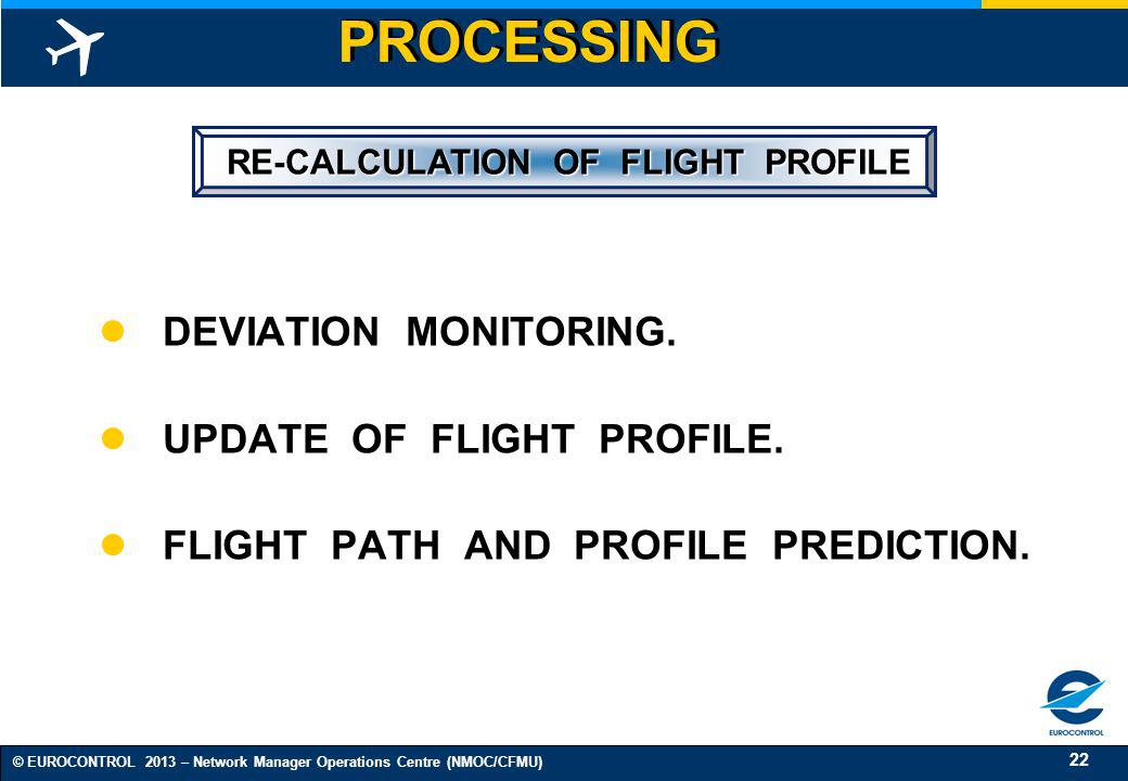 RE-CALCULATION OF FLIGHT PROFILE