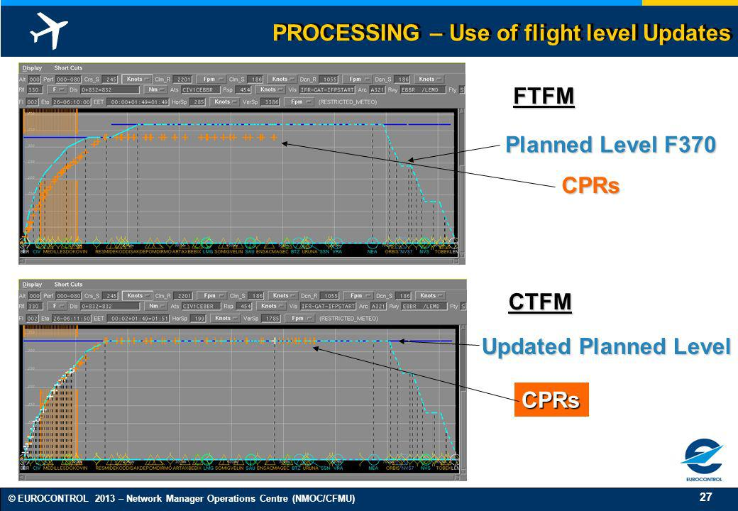 PROCESSING – Use of flight level Updates