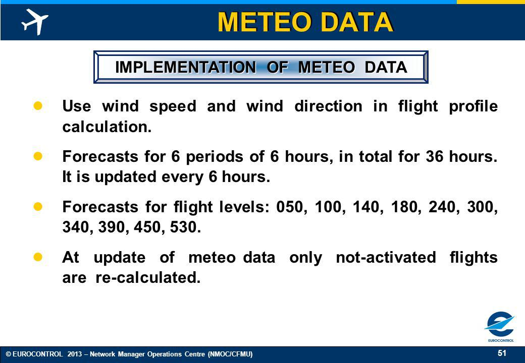 IMPLEMENTATION OF METEO DATA