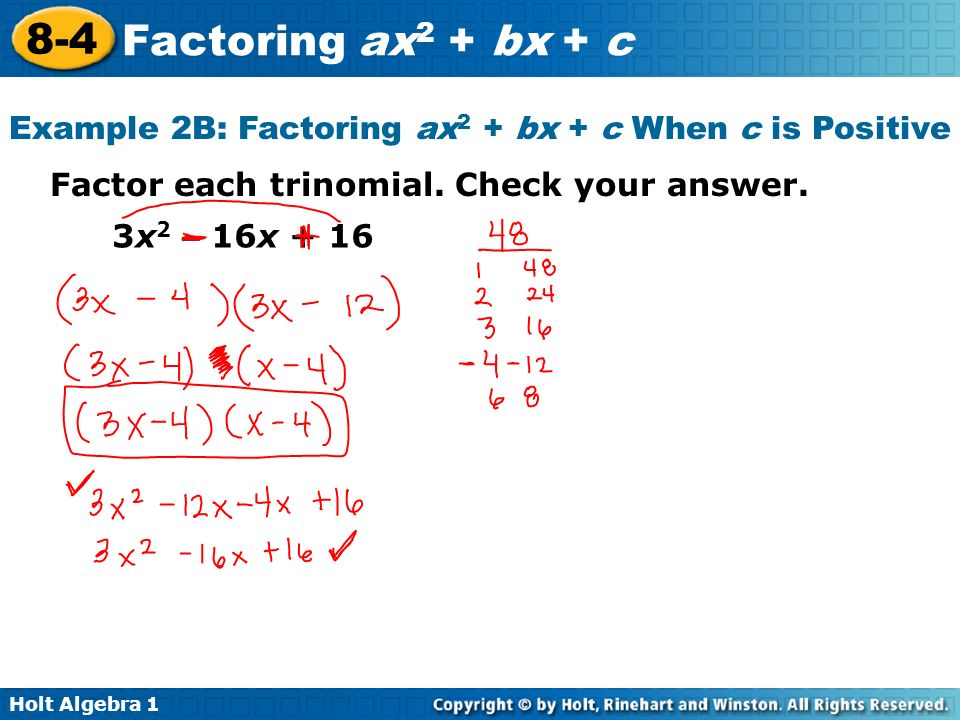 lesson 8-4 problem solving factoring ax2+bx+c