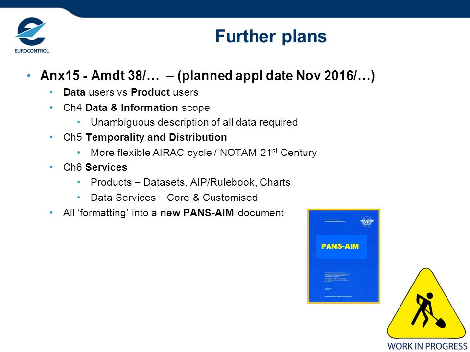 Further plans Anx15 - Amdt 38/… – (planned appl date Nov 2016/…)