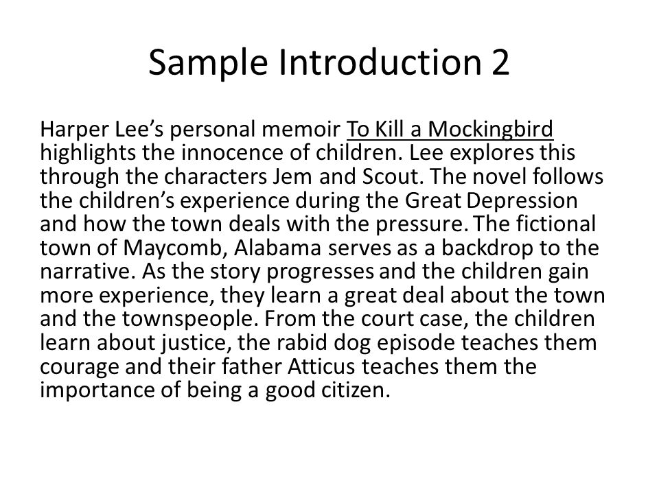 Writing a Summary of To Kill a Mockingbird