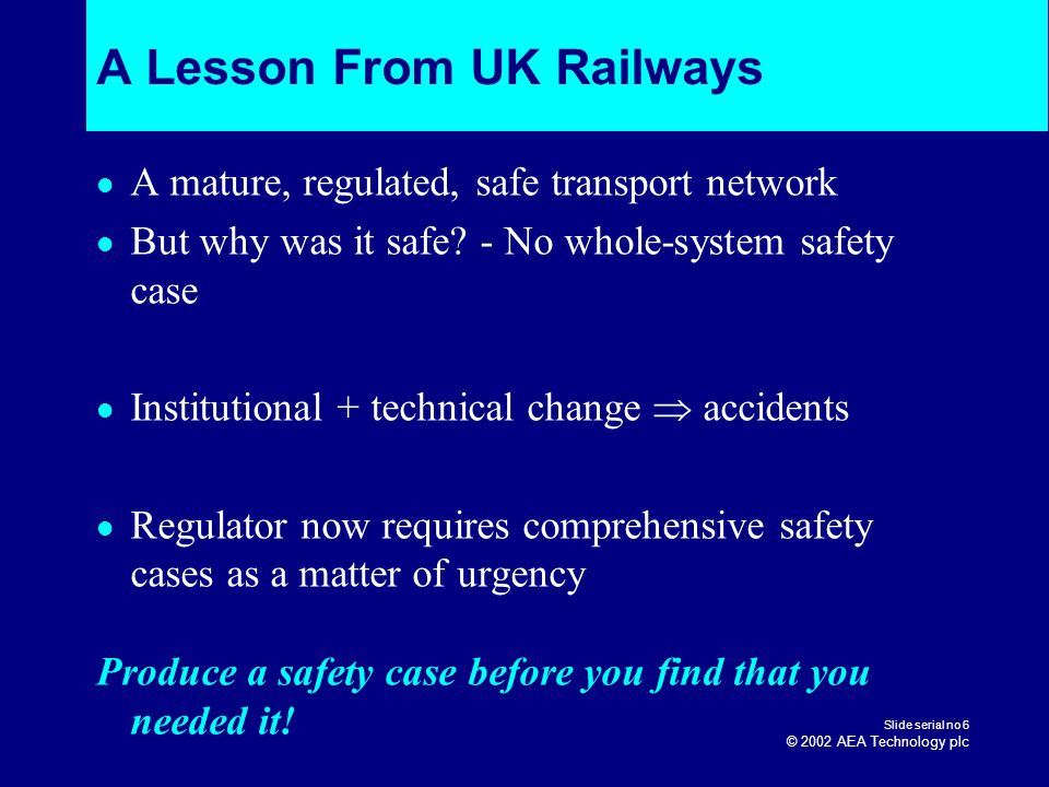A Lesson From UK Railways