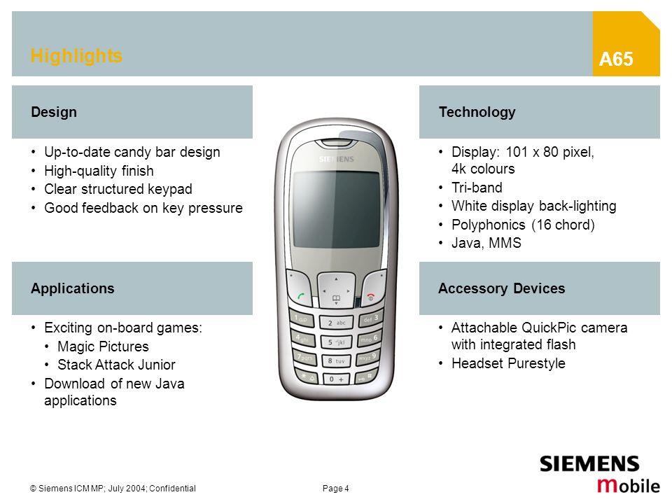 Siemens Mobile Phones A65 Presentation - ppt video online download